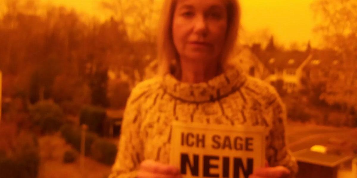 Ulrike aus Bremen sagt NEIN zu Gewalt gegen Frauen