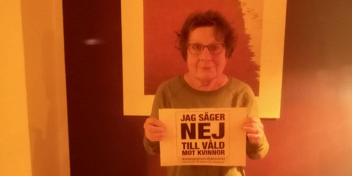 Dietlind aus Bremen sagt NEIN zu Gewalt gegen Frauen