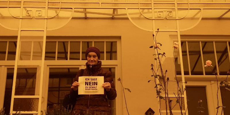 Gisela aus Bremen sagt NEIN zu Gewalt gegen Frauen