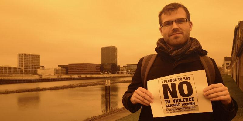 Matthias aus Bremen sagt NEIN zu Gewalt gegen Frauen